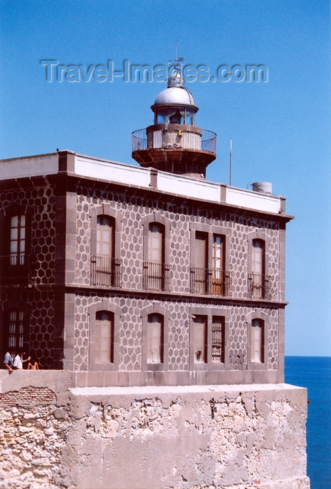 melilla38: Melilla: El Pueblo - lighthouse - Melilla la Vieja / faro - Nº IHM 72900, Nº INT E-7054, Nº NIMA 22736, Latitud N 35º 17.7', Longitud W 002º 25.1' - GpOc(2)B 6s - photo by M.Torres - (c) Travel-Images.com - Stock Photography agency - Image Bank