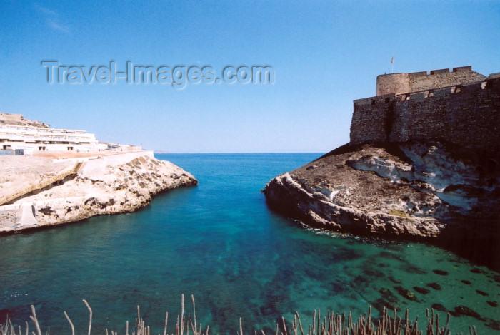 melilla47: Melilla: Galápagos cove and the citadel | ensenada de los galápagos y la ciudadela - photo by M.Torres - (c) Travel-Images.com - Stock Photography agency - Image Bank