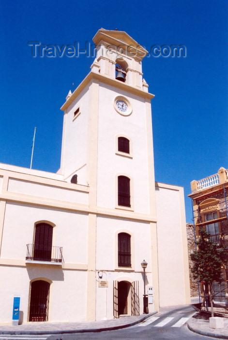 melilla52: Melilla: clock tower - Melilla la Vieja / Plaza de los Aljibes - Casa del Reloj o Torre de la Vela - Museo Municipal - photo by M.Torres - (c) Travel-Images.com - Stock Photography agency - Image Bank