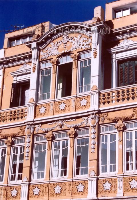 melilla60: Melilla: art deco balcony - architect Enrique Nieto y Nieto / veranda / balcon - modernismo - photo by M.Torres - (c) Travel-Images.com - Stock Photography agency - Image Bank