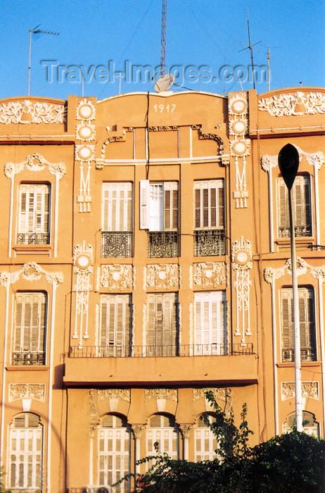 melilla64: Melilla: modernist façade - architect Enrique Nieto y Nieto / fachada modernista - photo by M.Torres - (c) Travel-Images.com - Stock Photography agency - Image Bank