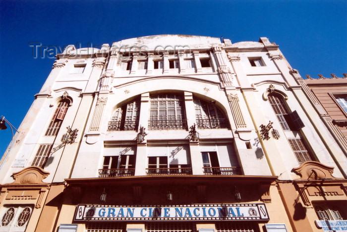 melilla67: Melilla: Cinema - Gran Cine Nacional - architect Enrique Nieto y Nieto - Calle Cándido Lobera - photo by M.Torres - (c) Travel-Images.com - Stock Photography agency - Image Bank