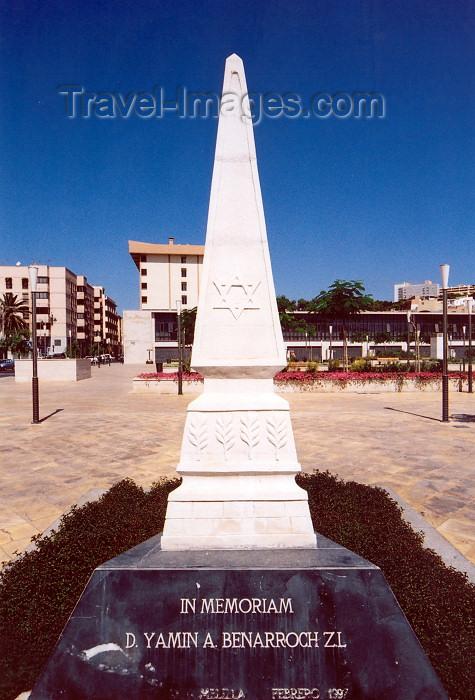 melilla71: Melilla: Jewish memorial in honour of Yamin Benarroch | monumento judío - photo by M.Torres - (c) Travel-Images.com - Stock Photography agency - Image Bank