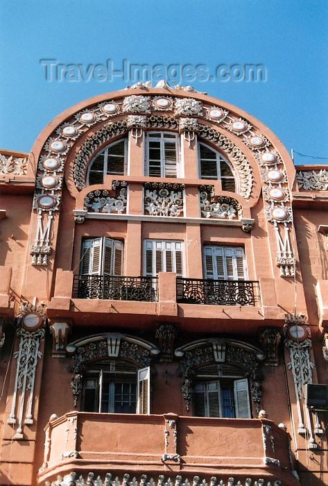 melilla8: Melilla: art deco balcony - architect Enrique Nieto y Nieto / veranda / balcon - modernismo - photo by M.Torres - (c) Travel-Images.com - Stock Photography agency - Image Bank