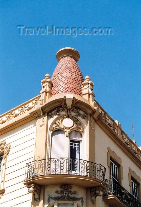 melilla9: Melilla: art deco balcony II - Edificio Reconquista - arquitecto Enrique Nieto y Nieto - photo by M.Torres - (c) Travel-Images.com - Stock Photography agency - Image Bank