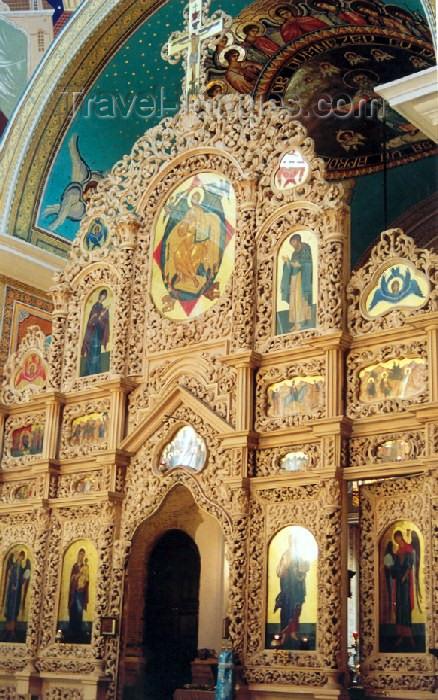 moldova25: Chisinau / Kishinev / KIV: Orthodox Cathedral - the iconostasis - photo by M.Torres - (c) Travel-Images.com - Stock Photography agency - Image Bank