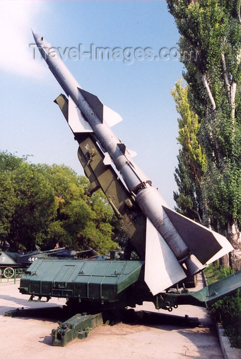 moldova35: Chisinau / Kishinev, Moldova: S300 anti-aircraft missile - open air military exhibition - photo by M.Torres - (c) Travel-Images.com - Stock Photography agency - Image Bank