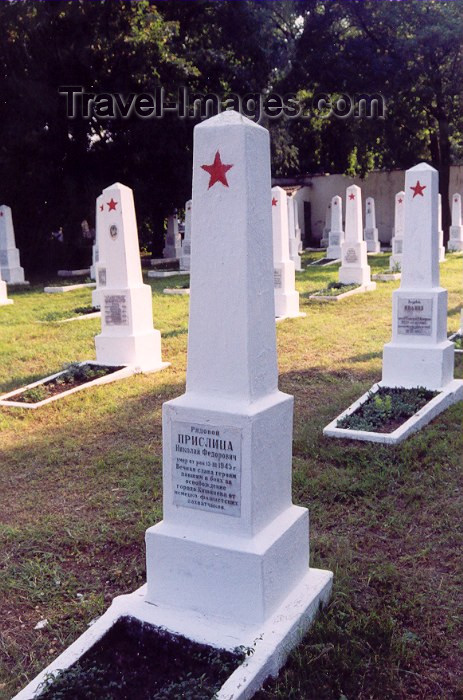 moldova37: Chisinau / Kishinev, Moldova: Soviet Military Cemetery - tomb of soldier Nikolai Fedorovich Prislitsa - Cimitrul - photo by M.Torres - (c) Travel-Images.com - Stock Photography agency - Image Bank