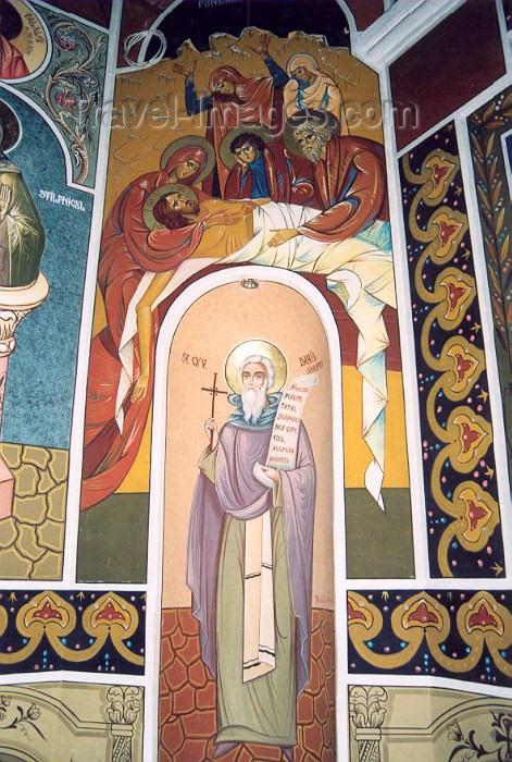 moldova60: Chisinau / Kishinev, Moldova: Church on Armenian street / Armeneasca - detail - photo by M.Torres - (c) Travel-Images.com - Stock Photography agency - Image Bank