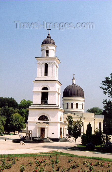 moldova62: Chisinau / Kishinev / KIV: Orthodox Cathedral of the Nativity - the campanile / steeple  - Cathedral Park - Catedrala - principala biserica a orasului - photo by M.Torres - (c) Travel-Images.com - Stock Photography agency - Image Bank