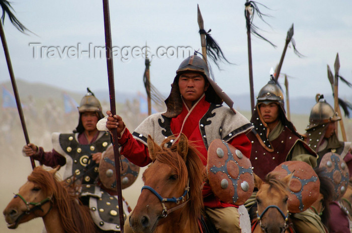 mongolia155: Ulan Bator / Ulaanbaatar, Mongolia: cavalry charge to celebrate the 800th anniversary of the Mongolian state -  - photo by A.Ferrari - (c) Travel-Images.com - Stock Photography agency - Image Bank