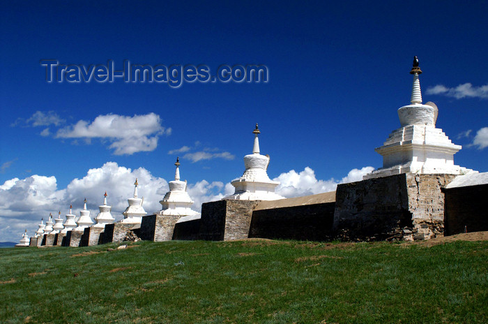 mongolia239: Karakorum, central Mongolia: Erdene Zuu monastery, Kharkhorin - some of the 108 stupas surrounding the monastery - photo by A.Ferrari - (c) Travel-Images.com - Stock Photography agency - Image Bank