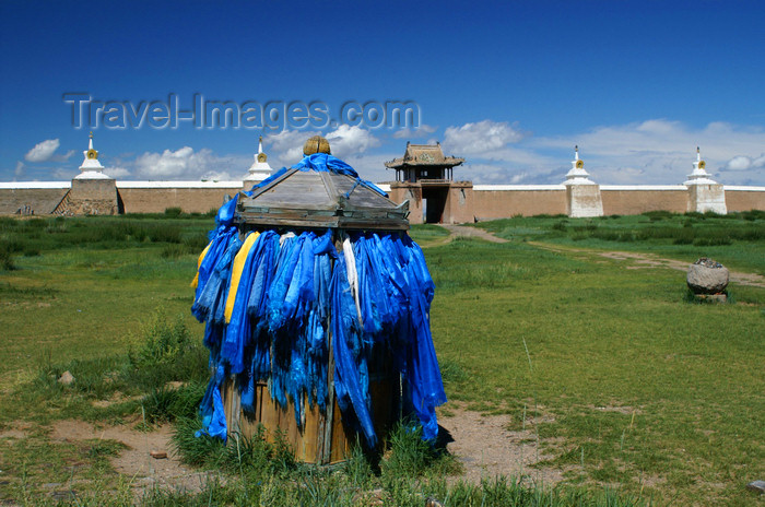 mongolia254: Karakorum, central Mongolia: Erdene Zuu monastery, Kharkhorin - blue scarfs - photo by A.Ferrari - (c) Travel-Images.com - Stock Photography agency - Image Bank