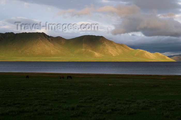mongolia285: Khorgo-Terkhiin Tsagaan Nuur NP, Mongolia: hills and lake in the rich evening light - photo by A.Ferrari - (c) Travel-Images.com - Stock Photography agency - Image Bank