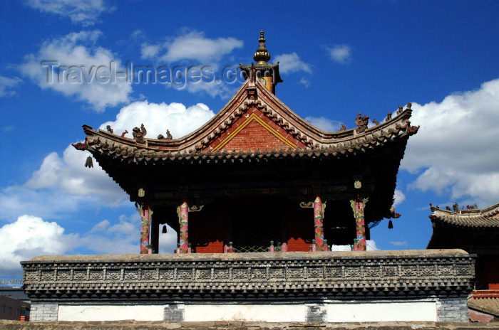 mongolia344: Ulan Bator / Ulaanbaatar, Mongolia: Choijin Lama's Buddhist monastery - roof detail - photo by A.Ferrari - (c) Travel-Images.com - Stock Photography agency - Image Bank