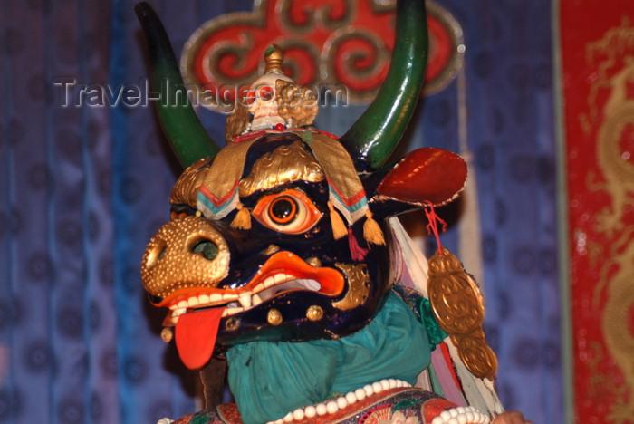 mongolia65: Mongolia - Ulaan Baator / ULN: / Ulan Bator: folk evening - Tibetan deity - black - photo by A.Summers - (c) Travel-Images.com - Stock Photography agency - Image Bank