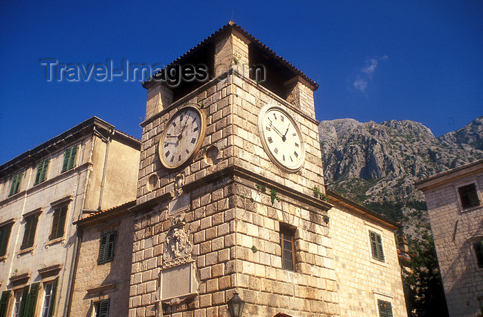 montenegro198: Montenegro - Kotor: clock tower - photo by D.Forman - (c) Travel-Images.com - Stock Photography agency - Image Bank