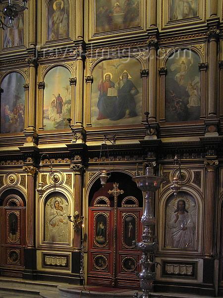 montenegro36: Montenegro - Crna Gora  - Kotor: inside the Serbian church of St Nicholas - iconostasis detail - icons - Orthodox - photo by J.Kaman - (c) Travel-Images.com - Stock Photography agency - Image Bank