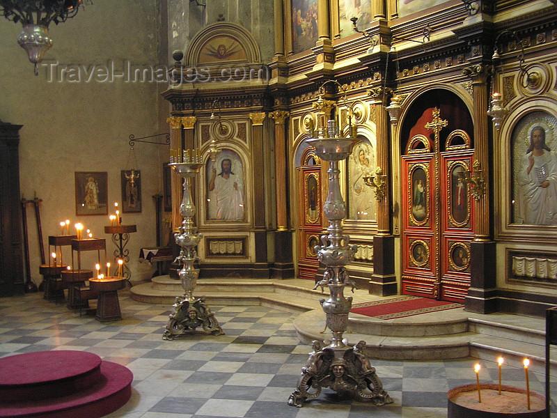 montenegro37: Montenegro - Crna Gora  - Kotor: inside the Serbian church of St Nicholas - iconostasis - photo by J.Kaman - (c) Travel-Images.com - Stock Photography agency - Image Bank