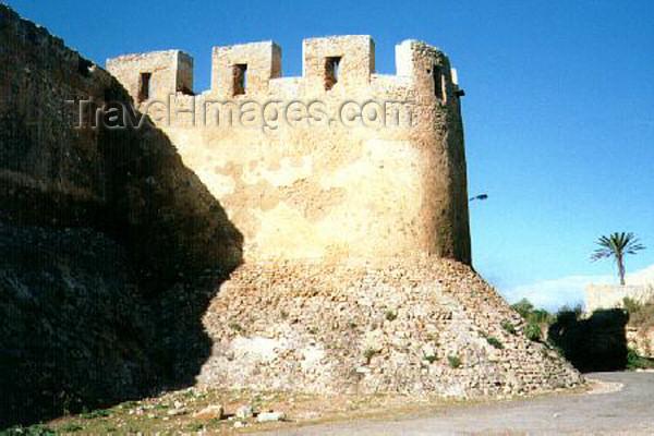 moroc19: Morocco / Maroc - Azemour / Azamor: Portuguese ramparts / Baluarte e muralhas da fortaleza Portuguesa - photo by B.Cloutier - (c) Travel-Images.com - Stock Photography agency - Image Bank