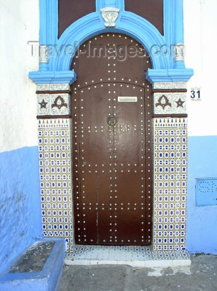 moroc229: Morocco / Maroc - Rabat: door and tiles - photo by J.Kaman - (c) Travel-Images.com - Stock Photography agency - Image Bank