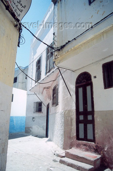 moroc35: Morocco / Maroc - Tangier / Tanger: façades in the Medina - photo by M.Torres - (c) Travel-Images.com - Stock Photography agency - Image Bank