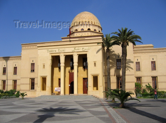 moroc376:   Morocco / Maroc - Marrakesh / Marrakech: the opera house / l'opera / Opernhaus in Marrakesch / Théâtre Royal - Ville Nouvelle - photo by Abdel - (c) Travel-Images.com - Stock Photography agency - Image Bank
