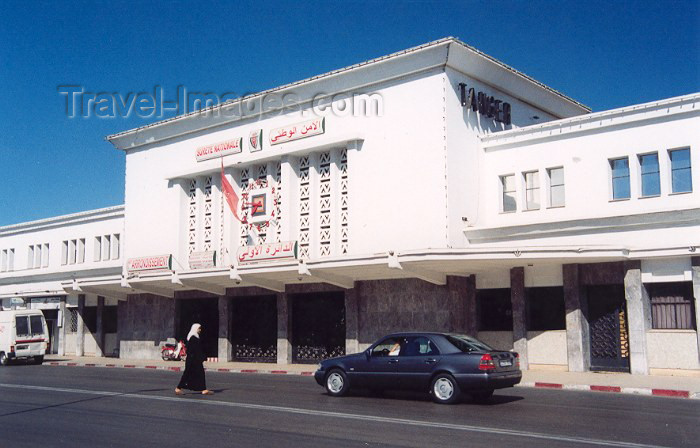 moroc41: Morocco / Maroc - Tangier / Tanger: the former Train Station - now the Police Station - photo by M.Torres - (c) Travel-Images.com - Stock Photography agency - Image Bank
