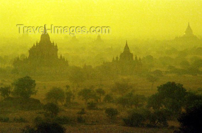 myanmar1: Myanmar / Burma - Bagan / Pagan: stupas at dawn (photo by J.Kaman) - (c) Travel-Images.com - Stock Photography agency - Image Bank