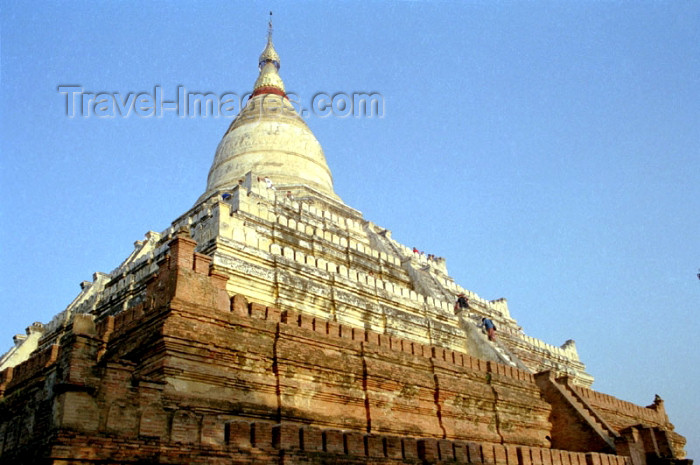 myanmar2: Myanmar / Burma - Bagan / Pagan: temple with stupa, locally called 'zedi' (photo by J.Kaman) - (c) Travel-Images.com - Stock Photography agency - Image Bank