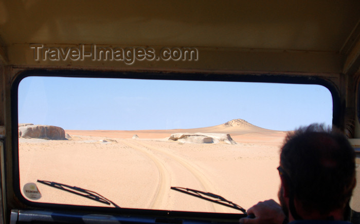 namibia136: Namibia: Desert through windshield of Landrover, Skeleton Coast - photo by B.Cain - (c) Travel-Images.com - Stock Photography agency - Image Bank