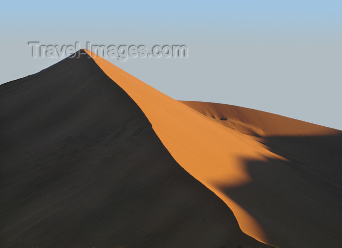 namibia170: Namibia Partially sillouetteddune at sunrise, Sossusvlei - photo by B.Cain - (c) Travel-Images.com - Stock Photography agency - Image Bank