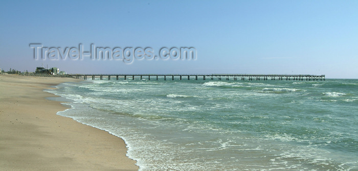 namibia37: Africa - Namibia: Swakopmund, Erongo region: beach and pier on the South Atlantic - photo by J.Banks - (c) Travel-Images.com - Stock Photography agency - Image Bank