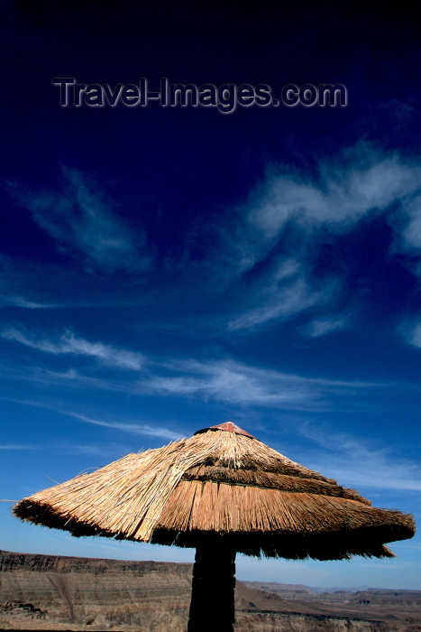 namibia89: Namibia - Fish River Canyon, Karas Region: a picnic area - hut and sky - photo by G.Friedman  - (c) Travel-Images.com - Stock Photography agency - Image Bank