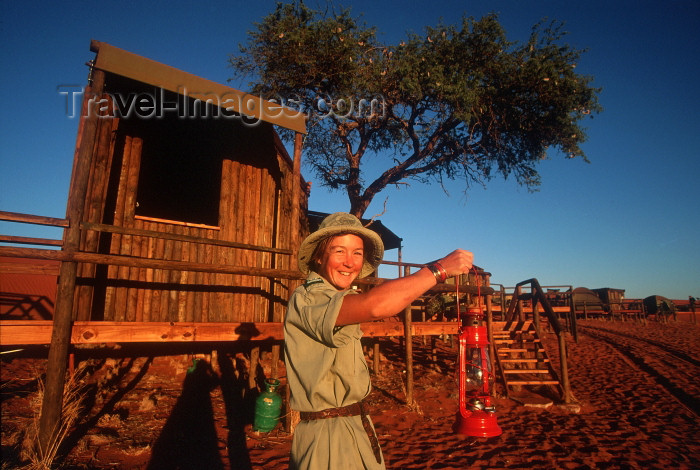 namibia93: Namibia - Hostess and red lantern - photo by G.Friedman - (c) Travel-Images.com - Stock Photography agency - Image Bank