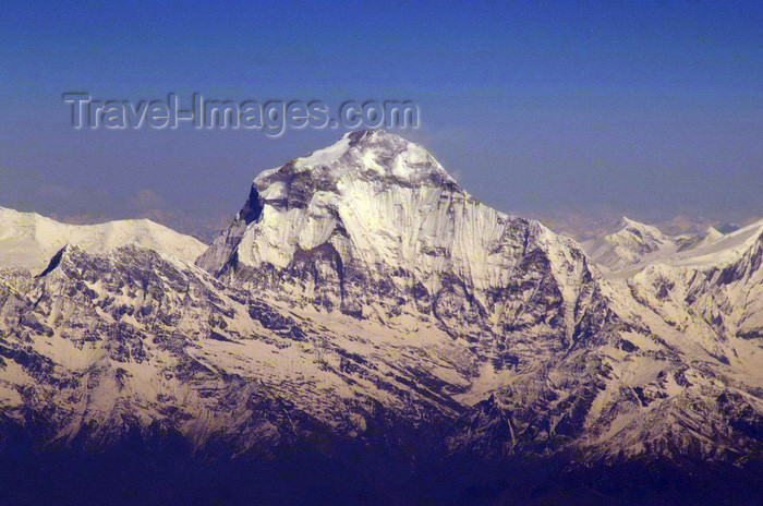 nepal125: Nepal - Dhaulagiri Range, Myagdi District, Dhawalagiri Zone: Mt Dhaulagiri - Annapurna region, seen from the air - photo by A.Ferrari - (c) Travel-Images.com - Stock Photography agency - Image Bank