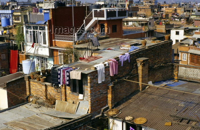 nepal267: Kathmandu, Nepal: over the roof tops - photo by W.Allgöwer - (c) Travel-Images.com - Stock Photography agency - Image Bank