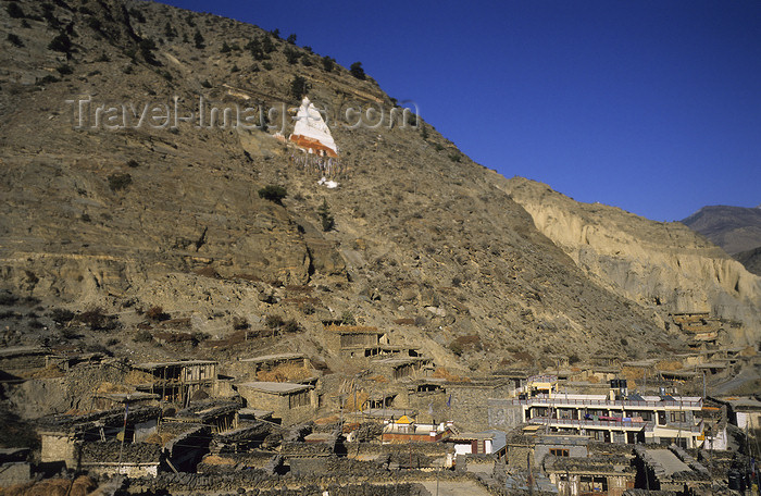nepal392: Marpha, Annapurna area, Mustang District, Nepal: village view - Kali Gandaki valley - photo by W.Allg&#246;wer - (c) Travel-Images.com - Stock Photography agency - Image Bank