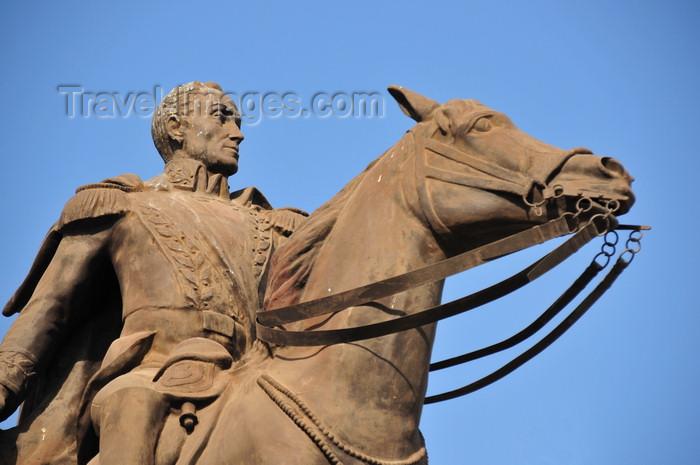 nicaragua44: Managua, Nicaragua: equestrian statue of Simón Bolivar, a gift of Venezuela - plaza Simón Bolivar - malecón - photo by M.Torres - (c) Travel-Images.com - Stock Photography agency - Image Bank