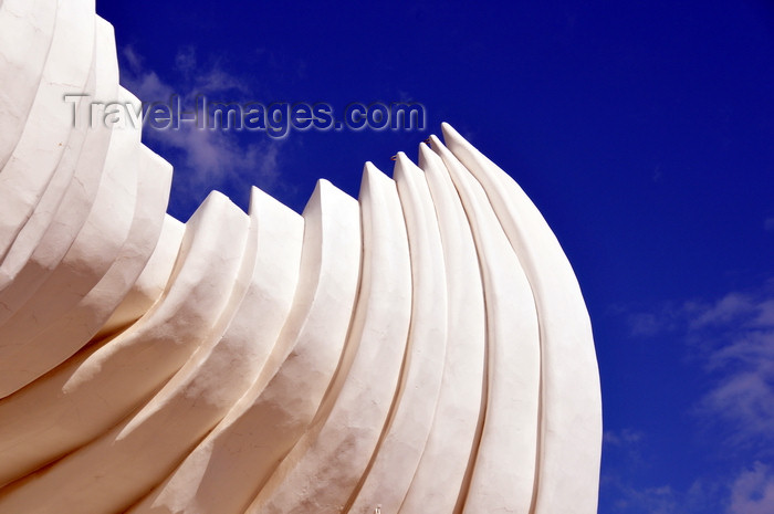 nicaragua47: Managua, Nicaragua: bandstand - acoustic shell - architect Glen Howard Small - Organic Expressionism - Plaza de la Fé Juan Pablo II - malécon - photo by M.Torres - (c) Travel-Images.com - Stock Photography agency - Image Bank