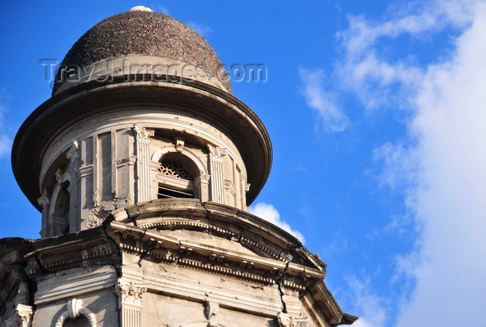 nicaragua62: Managua, Nicaragua: Old Cathedral - bell tower damaged by the 1972 earthquake and by bullets during the 1979 revolution - Antigua Catedral de Santiago de Managua - photo by M.Torres - (c) Travel-Images.com - Stock Photography agency - Image Bank