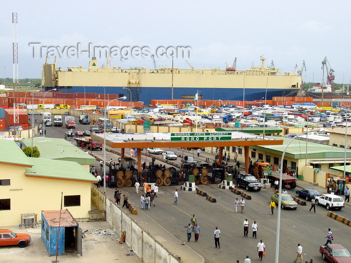 nigeria49: Lagos, Nigeria: Car Transporter, RoRo port - photo by A.Bartel - (c) Travel-Images.com - Stock Photography agency - Image Bank