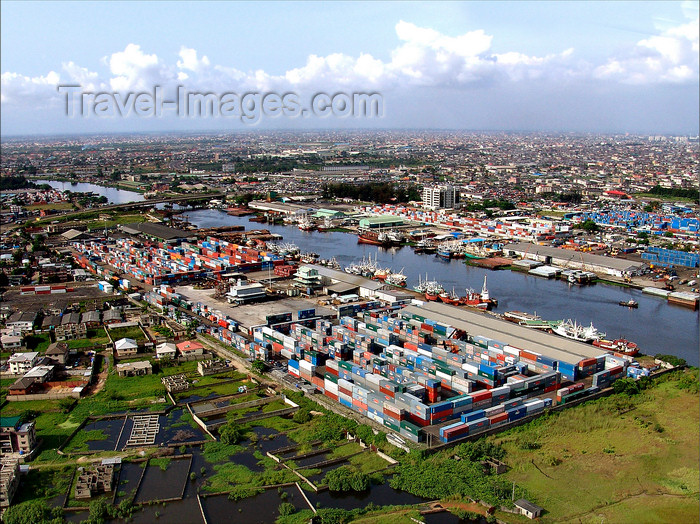 nigeria53: Nigeria - Lagos: port - container terminal - photo by A.Bartel - (c) Travel-Images.com - Stock Photography agency - Image Bank