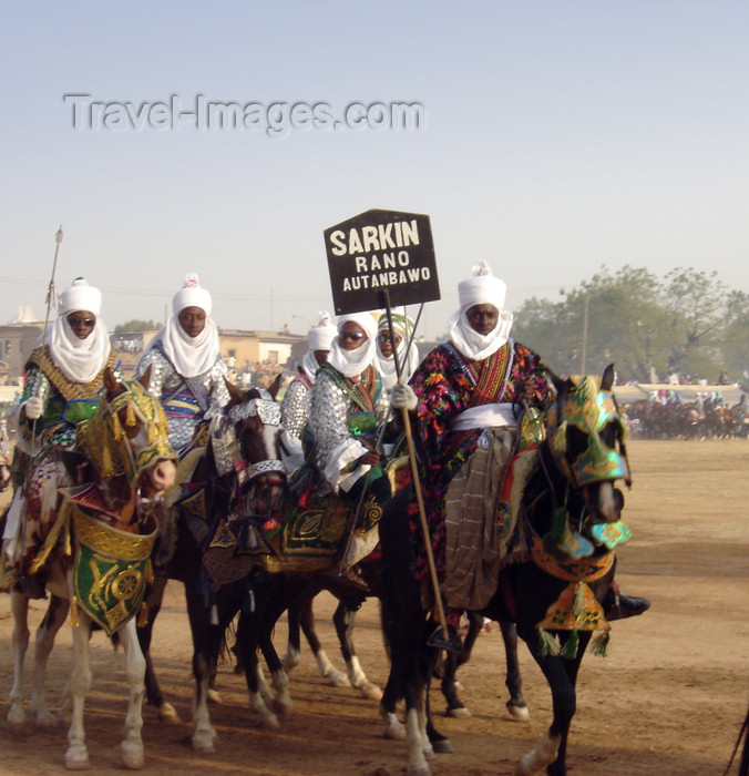 nigeria60: Kano, Nigeria: Salla Durbar festival - horsemen in the procession - Sarkin - Eid al-Adha - Aïd el-Kebir - photo by A.Obem - (c) Travel-Images.com - Stock Photography agency - Image Bank