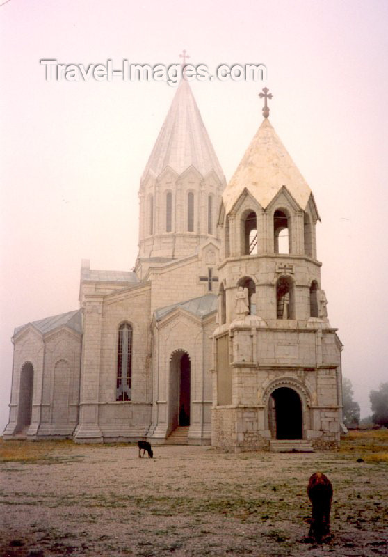 nk19: Nagorno Karabakh - Shusha: the Armenian Cathedral of the Holy Saviour - religion - Christianity - photo by M.Torres - (c) Travel-Images.com - Stock Photography agency - Image Bank