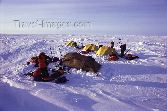 north-pole8: Arctic Ocean: camping on the way to the Pole (photo by Eric Philips) - (c) Travel-Images.com - Stock Photography agency - Image Bank