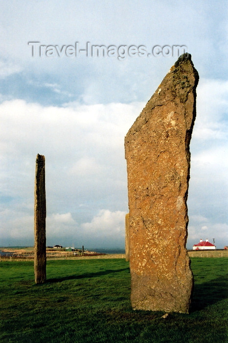 orkney1: Orkney island, Mainland - Standing Stones of Stenness - (c) Travel-Images.com - Stock Photography agency - the Global Image Bank