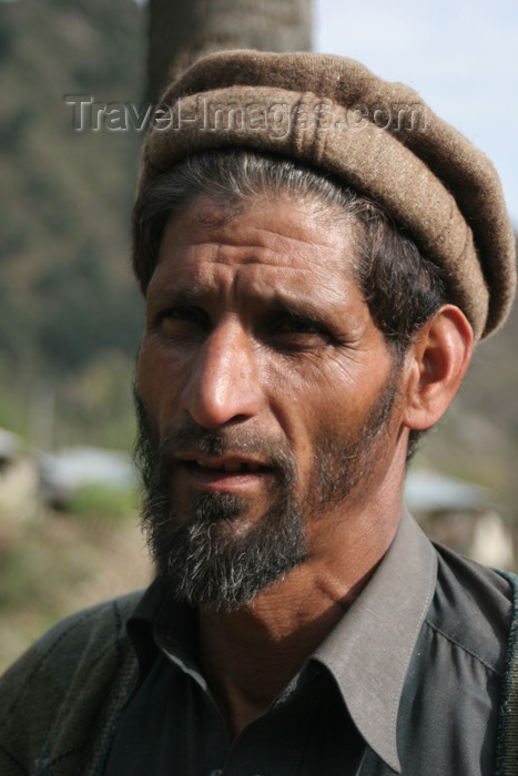 pakistan101: Sachan Kalan, Siran Valley - North-West Frontier Province / Pakhtunkhwa / Sarhad, Pakistan: middle aged man with Pashtun hat - photo by R.Zafar - (c) Travel-Images.com - Stock Photography agency - Image Bank
