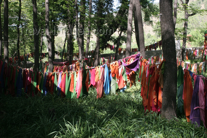pakistan103: Pakistan - Bogar Mang, Siran Valley, NWFP: clothes outside Ghazi Baba's shrine - photo by R.Zafar - (c) Travel-Images.com - Stock Photography agency - Image Bank