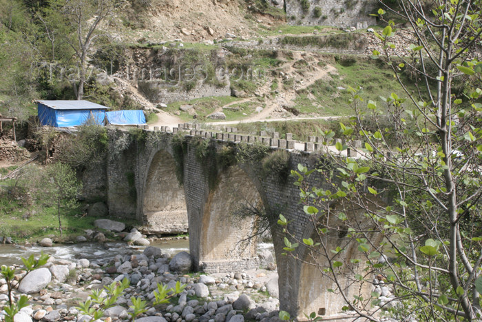 pakistan108: near Sachan Kalan, Siran Valley, NWFP, Pakistan: bridge built by the British over the river Siran - photo by R.Zafar - (c) Travel-Images.com - Stock Photography agency - Image Bank